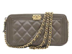 Chanel Boy Double Zip Wallet On Chain
