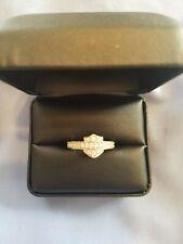 Harley davidson womens emblem ring white Crystal sparkly bling sterling silver