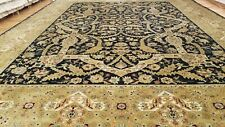 9 x 12 Black Very High Quality Indo  Wool Hand-Knotted Oriental Rug