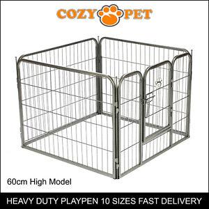 Heavy Duty Cozy Pet Puppy Playpen 60cm High 4 Panel Run Crate Pen Dog Cage