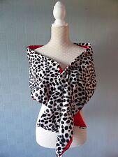 Child's Cruella de vil stole/shaw/wrap, Dalmatian print faux fur kid's costume