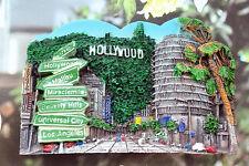 Hollywood USA Reiseandenken 3D Polyresin Souvenir Kühlschrankmagnete Magnet