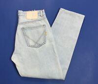 Roy rogers jeans uomo usato w33 tg 47 denim blu gamba dritta boyfriend T3984