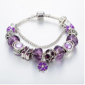 Authentic Bracelet Silver Rhinestone Bangle Love Heart European Bracelet Jewelry