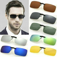 UV400 Polarized Sunglasses Flip-up Clip On Driving Glasses Day Night Vision Lens