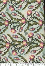 Shangri-La Flower Green Filigree Quilt Fabric - Free Shipping - 1 Yard