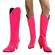 Women Patent Leather Pointy Toe Knee High Boots Party High Heels Shoes Pumps