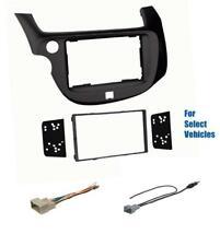 Black Double Din Car Stereo Radio Dash Kit Combo for some 2009-2013 Honda Fit