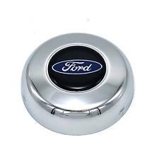 "Horn Button Ford Oval Logo Steel Chrome 3"" Grant Classic Challenger Series Wheel"