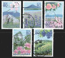 Japan 2007 Flowers and Scenery of Yamanashi II set of 5 Fine Used