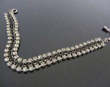 Vintage rhinestone bracelet-Bride bracelet- Silver tone bracelet 1950s-1960s