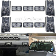 10pcs Smoke Roof Cab Marker Light Covers for 2003-2009 Hummer H2 SUV SUT