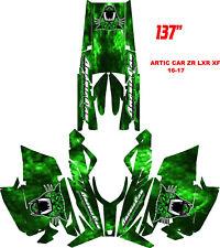 Arctic Cat ProClimb ProCross Hood Graphics Kit Wrap Evil Joker Green 2012-2015