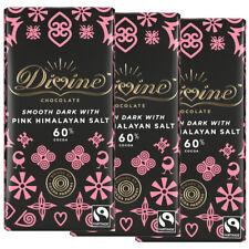 Divine chocolat noir avec Rose sel de l'Himalaya (3 Pack ou Multi-Achat) 90 g Ch...