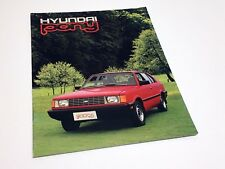 1984 Hyundai Pony Launch Redesign Brochure - French