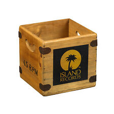 "Vintage Record Box 7"" Vinyl Single Crate Island Records Reggae DJ Retro Ska"