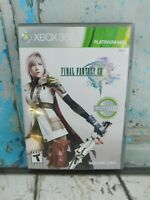Final Fantasy XIII (Microsoft Xbox 360, 2010) Video Game  Complete 3 Disc's