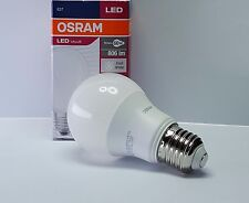 LAMPADINE LED OSRAM 9,5 Watt ATTACCO E27 LAMPADA BULBO A 60 GOCCIA  LUCE BIANCA