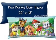 "Boys PAW PATROL Pups BODY PILLOW 20""x48"" Twin/Single Bed Bedding Set Room Decor"