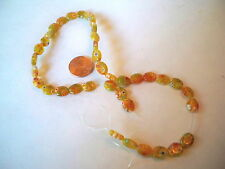 MILLEFIORI LOOSE BEADS AMBER COLOR