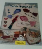 Table Settings Counted Cross Stitch Pattern Book 50 Canterbury Designs