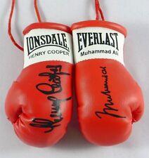 Autografiada Mini Guantes De Boxeo Muhammad Ali / Henry Cooper
