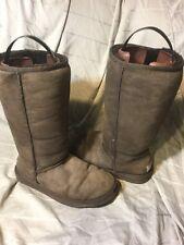 Ugg Australia Chocolate Brown Tall Classic Boots Size 7 Sheepskin Suede Sherpa