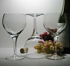 "3 LUIGI BORMIOLI Italy ""Michelangelo"" Crystal RED WINE Burgundy GLASSES *Stylish"
