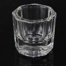 Nail Art Liquid Powder Acrylic Crystal Glass Dappen Dish Container Glassware Cup