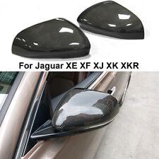 Replace For Jaguar XE XF XJ XK XKR 2011-2018 Carbon Fiber Side Mirror Covers Cap