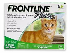New Frontline Plus Flea and Tick Control for Cats and Kittens 6 Mo. Supply