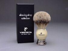Vestavia's Finest 25mm Silver Tip Badger Shaving Brush - white