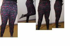 Next red purple black multi  tie die tapered jogger ankle cuff trouser uk size 6
