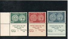 Israel Scott #7-9 Doar Ivri High Values Full Length Tabs Mint Hinged!!