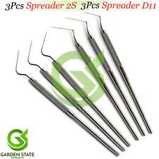 6pcs Dental Spreader 2sd11 Pulpotomy Root Canal Plugger Endodontic Instruments