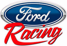 "Ford Racing Script Decal 12"" x 8"" Free Shipping"