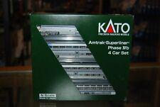 N Scale Kato 106-3516 * Amtrak Superliner Phase IVb, 4 Car Set B * NIB