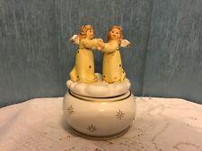 """Silent Night "" rotating angel music box figurine Inspired by Berta Hummel"