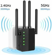 2.4G & 5GHz Dual Band WiFi Range Extender 1200Mbps Signal Booster Repeater