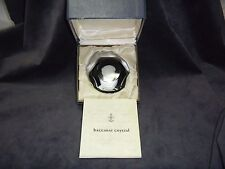 Baccarat Crystal 1971 Eleanor Roosevelt Sulphide Paperweight Limited Edition MIB