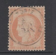 SUPERBE FRANCE PETIT CACHET ROND ALEXANDRIE NOV 1871 YT 38 40c ORANGE