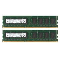 For Micron 16GB 2x 8GB PC3-12800U DDR3 1600MHz Desktop Memory RAM DIMM Intel @SU