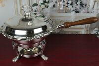 Gorgeous Antique Warming Chafing Dish FB Rogers