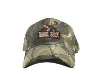 """Rebel Redneck """"Rebel Buck"""" Deer Hunting Camo Camouflage Ball Cap Hat (RUF)"""