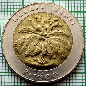 INDONESIA 1996 1000 RUPIAH, PALM OIL TREE, BI-METALLIC, UNC