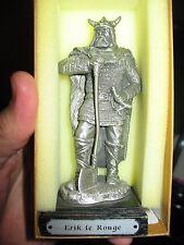 """Les Etains Du Graal Pewter Statue """"Erik Le Rouge"""""""