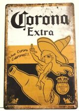Corona Mexican Beer Tin Metal Poster Sign Bar Man Cave Vintage Style Retro Ad