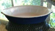 Emile Henry France Baking Dish Oval Handled Baker Au Gratin- Blue