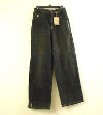 Roca Wear Junior's Size 16 Black Denim Jeans Straight Legged Pants Zip Button Up