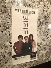Wide Mouth Mason Promo Poster Self Titled Album On Tour 1997 12X24